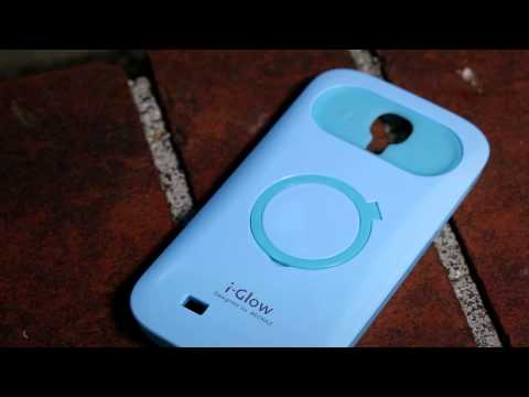 iGlow polycarbonate/silicone case with stand for Samsung i9500 Galaxy S4