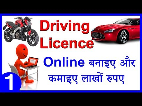 driving licence online application all state motor in Hindi language