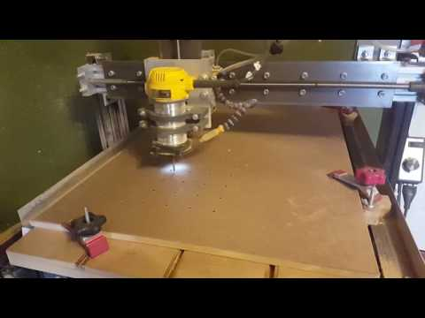 CNC cutting hardboard
