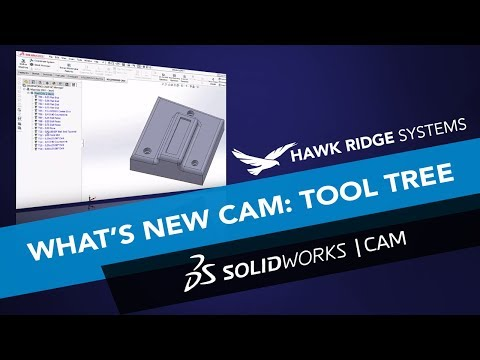 What's New SOLIDWORKS CAM 2018: Tool Tree