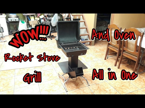 Making a roket stove, grill and oven all in one