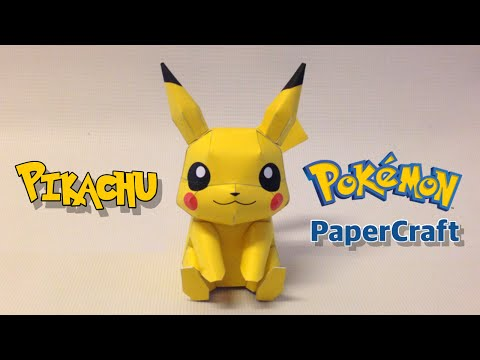 How to make Pikachu Papercraft from Pokemon Go & w/o Go