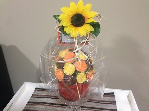 How to wrap and transport a cupcake bouquet!