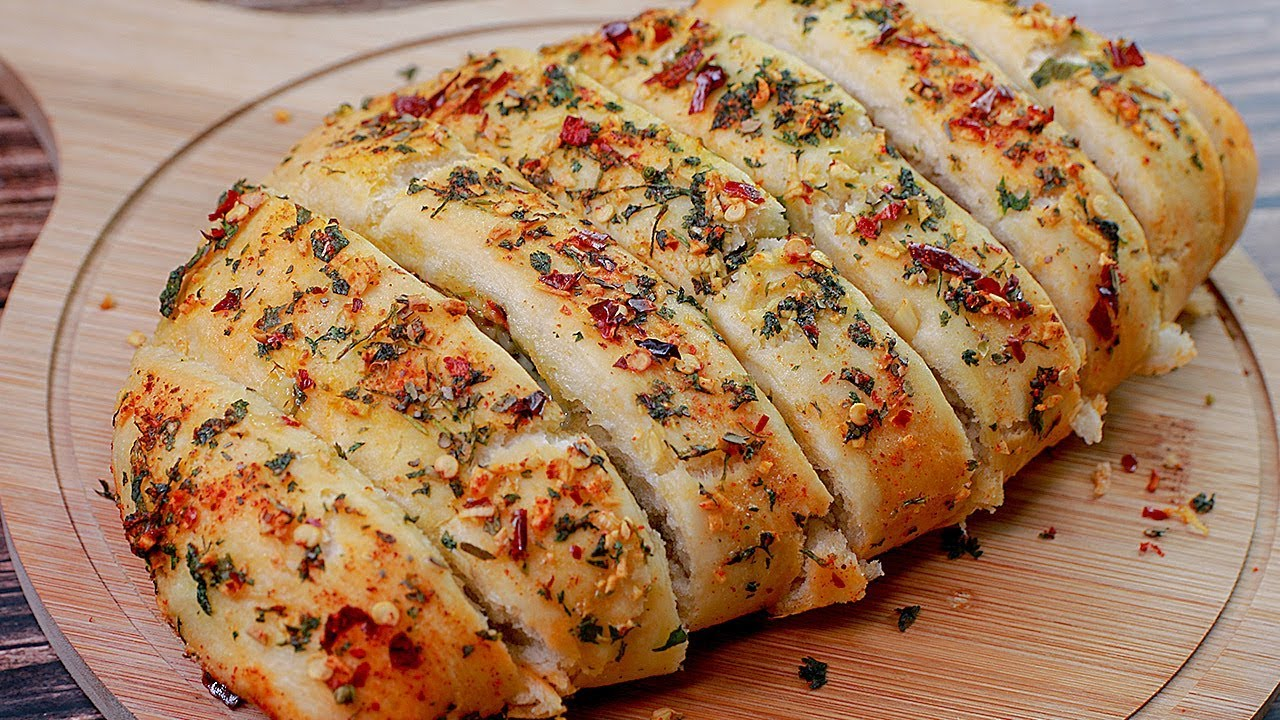 Garlic Bread Recipe   Dominos Garlic Bread   Eggless without Oven   Snacks Recipe   Toasted