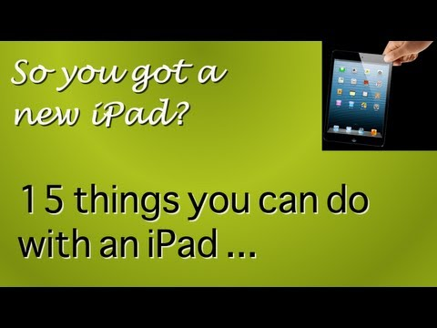 15 things you can do with an iPad