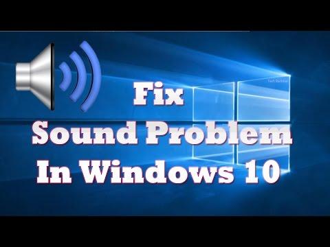 Fix Sound Problem, Audio Not Working On Windows 10