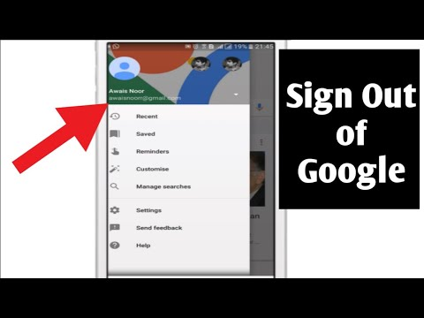 How to sign out of Google Account (Android)