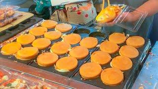 japanese street food - various OKONOMIYAKI compilation