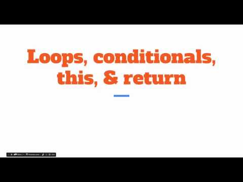 LOOPS, CONDITIONALS, THIS, & RETURN  | Simple Javascript Project Training Tutorial