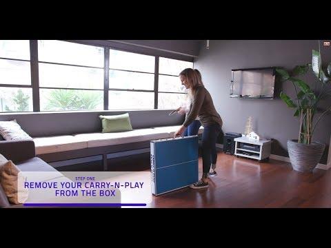 Assembly Video | Harvil 60-Inch Folding Portable Table Tennis Table | Dazadi.com
