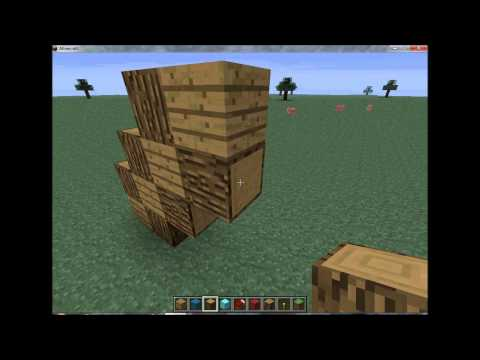 Minecraft How to make a Pickaxe Statue