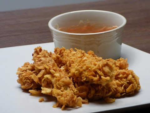 Corn flakes chicken strips recipe by foodCAST