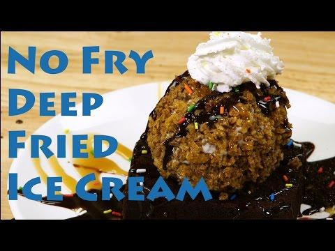 Homemade Deep Fry Vanilla Ice Cream