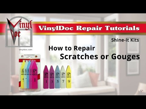 How to Repair Scratched or Gouged Vinyl Window Frames