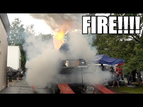 SHOOTING FLAMES ON THE DYNO!!!! WE BLEW IT UP AGAIN!!!!