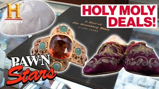Pawn Stars: *HOLY MOLY DEALS* (6 Expensive Religious Items) | History