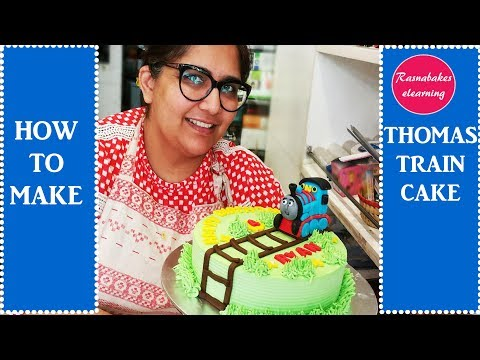 How To Make Thomas Train Cake: Free Cake Decoration Tutorial