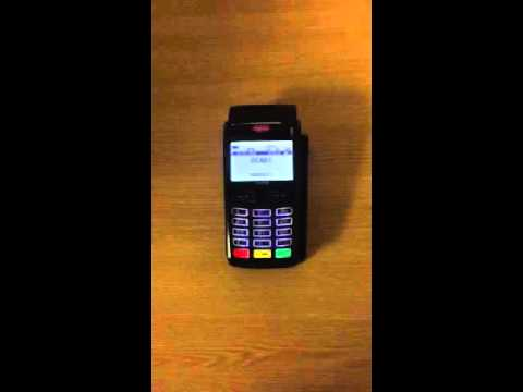 My credit card machines shows -