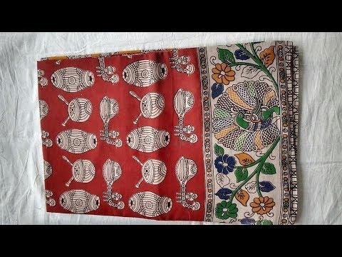 Designer Kalamkari Silk Cotton Sarees || Kalamkari Printed Sarees || Kalamkari Silk Saree Designs