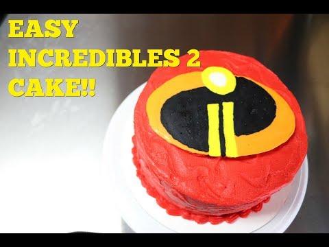 Easy Incredibles 2 Cake | Buttercream Transfer | DIY