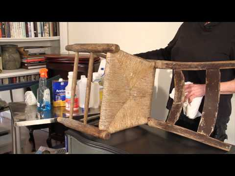 Child's Chair Part 1: Using MIneral Spirits to Transform a VERY Old Child's Chair