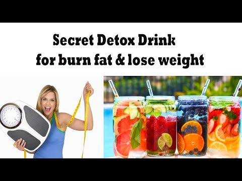 Secret Detox Drink for burn fat & lose weight || Drink and get your body healthy