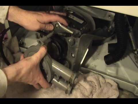 How to replace the pump and belt on a Maytag washer.
