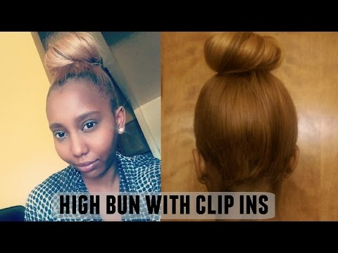 HOW TO: HIGH BUN WITH CLIP IN HAIR EXTENSIONS
