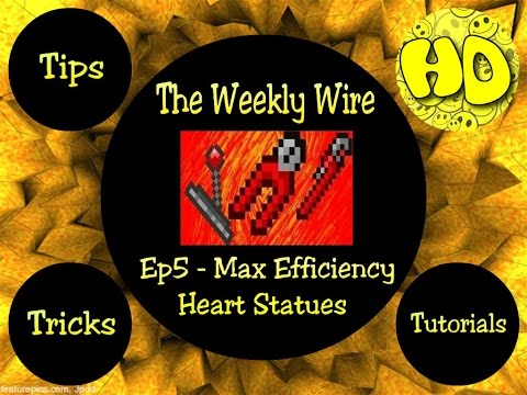 Terraria: The Weekly Wire Ep5 - Heart Statues & Boss Arena Tips (1.2.4.1 update)