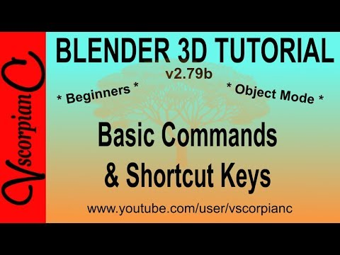 Blender 3d Tutorial - Beginners Object Mode Basic Commands & Shortcuts by VscorpianC