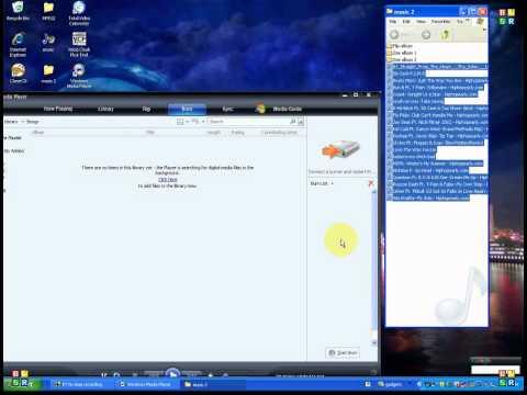 how to burn using Windows Media player