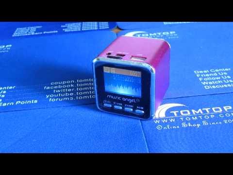 Micro SD TF USB Mini Stereo Speaker Music MP3 Player FM Radio Rose