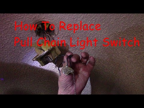 How To Replace Pull Chain Light Switch