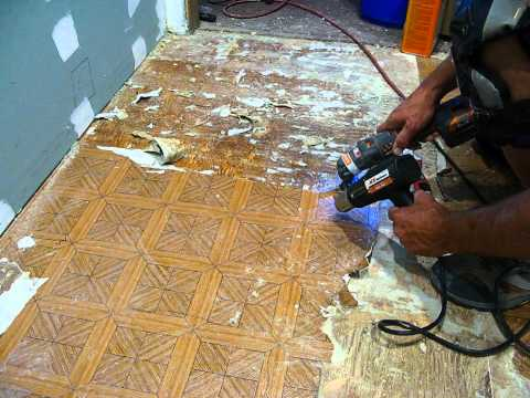 Taking linoleum off a wood floor