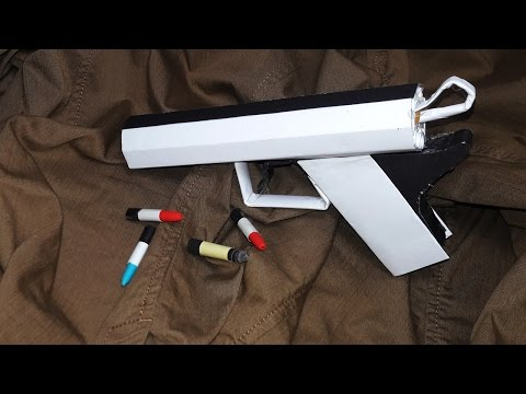 | DIY | How to make a paper ' POLAR BEAR GUN' That shoots paper bullets-Toy weapon-By Dr. Origami
