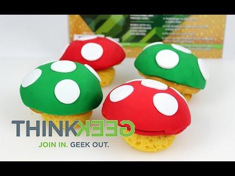 ThinkGeek's Mario 8 Bit Mushroom Cupcake Pan