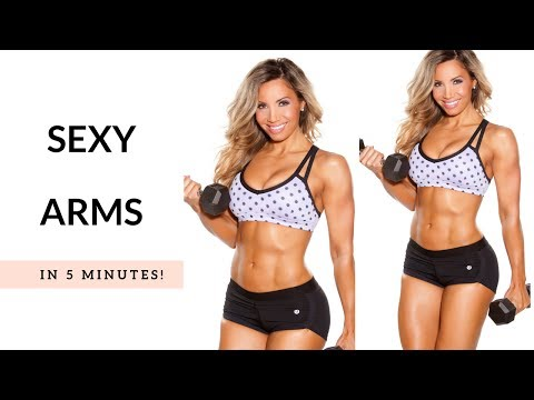 Sexy arms in 5 minutes! (real-time workout)