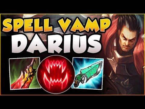 WTF?? ONE DARIUS Q HEALED FOR HOW MUCH? SPELL VAMP DARIUS TOP SEASON 8 GAMEPLAY! - League of Legends