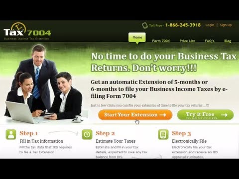 How to  e-file a Business Income Tax extension