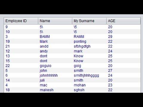 Java prog#5. JTable- Populate JTable data from database  in java Netbeans  and Sqlite  (mysql)