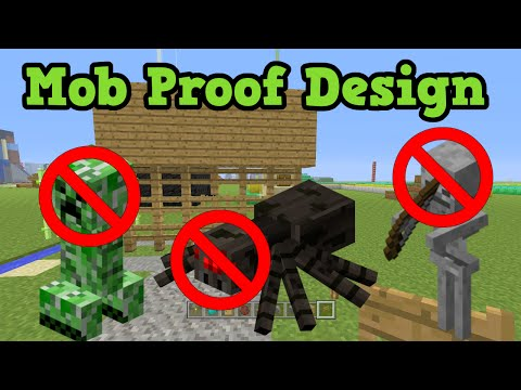 Minecraft Xbox 360 / PS3 MOB PROOF Wall / House Build Guide