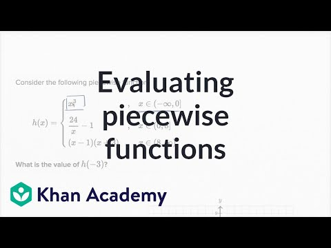 How to evaluate a piecewise function (example) | Functions | Algebra I | Khan Academy