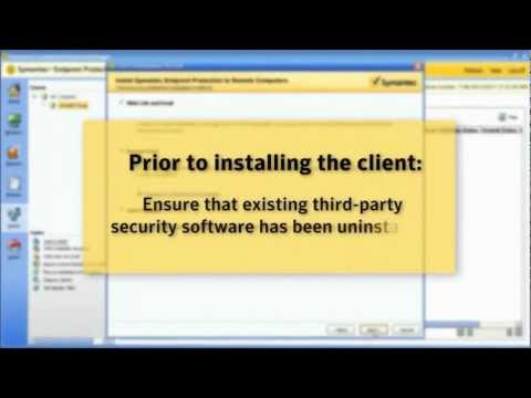 Demonstration of Endpoint Protection 12.1 Client Deployment Wizard