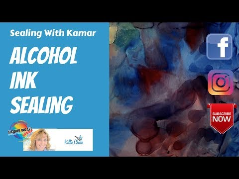 How to Seal Your Alcohol Ink Paintings on Yupo Paper