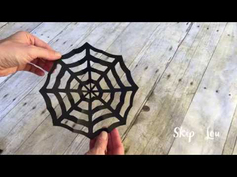 How to make a spider web out of paper