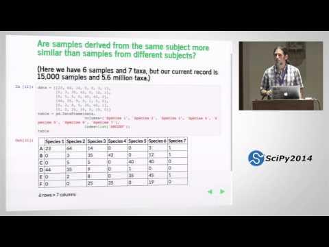 scikit bio: core bioinformatics data structures+algorithms in Python|SciPy 2014|J Gregory Caporaso