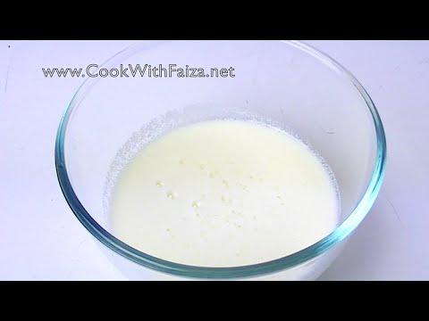 BUTTERMILK (homemade) *COOK WITH FAIZA*