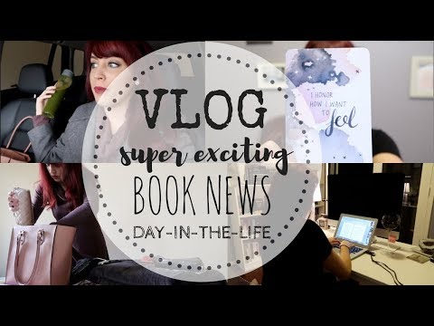VLOG | Exciting Book News | TBR | Author Weekday-In-The-Life