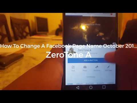 How To Change A Facebook Page Name October 2016