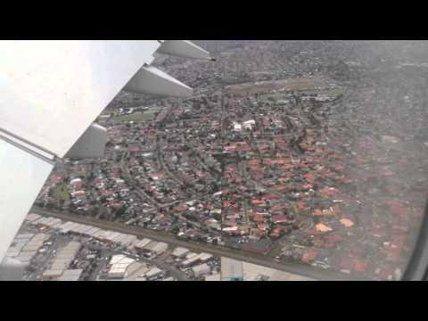 Flying - Landing into Melbourne's Tullamarine Airport (Qantas A380) Australia